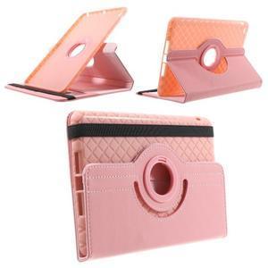 Circu otočné pouzdro na Apple iPad Mini 3, iPad Mini 2 a ipad Mini - růžové - 1
