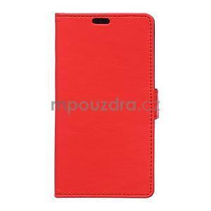 Ochranné peněženkové pouzdro Microsoft Lumia 640 - červené - 1