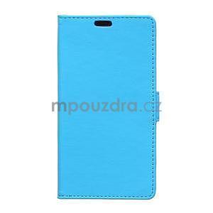Ochranné peněženkové pouzdro Microsoft Lumia 640 - modré - 1