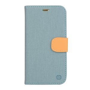 Clothy PU kožené pouzdro na mobil Doogee X5 - světlemodré - 1