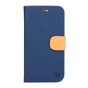 Clothy PU kožené pouzdro na mobil Doogee X5 - tmavěmodré - 1