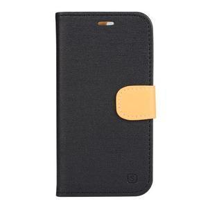 Clothy PU kožené pouzdro na mobil Doogee X5 - černé - 1