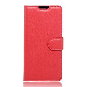 Peněženkové pouzdro na mobil Doogee X6 - červené - 1