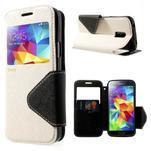 Pěněženkové pouzdro s okýnkem pro Samsung Galaxy S5 mini - bílé - 1/7