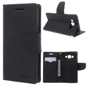 Mr. Fancy koženkové pouzdro na Samsung Galaxy A5 - černé - 1