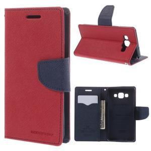 Mr. Fancy koženkové pouzdro na Samsung Galaxy A5 - červené - 1