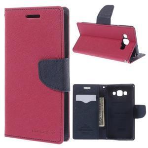 Mr. Fancy koženkové pouzdro na Samsung Galaxy A5 - rose - 1