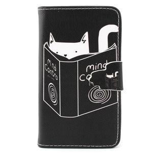 Fun peněženko pouzdro na Samsung Galaxy S3 mini - kočička čte - 1