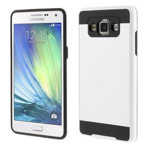 Hybridní gelové/plastové pouzdro na Samsung Galaxy A5 - bílé - 1