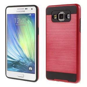 Hybridní gelové/plastové pouzdro na Samsung Galaxy A5 - červené - 1