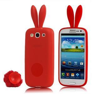 Gelové pouzdro na Samsung Galaxy S III / S3 - červený králík - 1