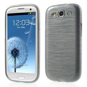 Brush gelový kryt na Samsung Galaxy S III / Galaxy S3 - šedý - 1
