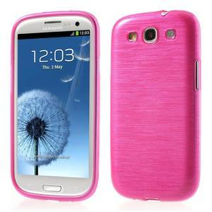 Brush gelový kryt na Samsung Galaxy S III / Galaxy S3 - rose - 1