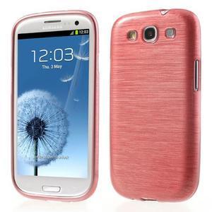 Brush gelový kryt na Samsung Galaxy S III / Galaxy S3 - růžový - 1