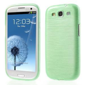 Brush gelový kryt na Samsung Galaxy S III / Galaxy S3 - zelený - 1