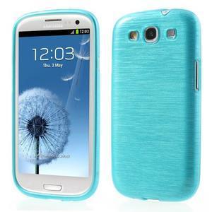 Brush gelový kryt na Samsung Galaxy S III / Galaxy S3 - modrý - 1