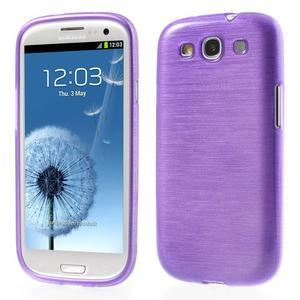 Brush gelový kryt na Samsung Galaxy S III / Galaxy S3 - fialový - 1