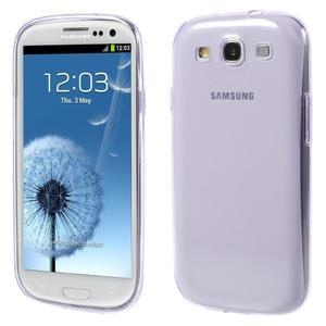Ultratenký slim 0.6 mm obal na Samsung Galaxy S III / S3 - fialový - 1