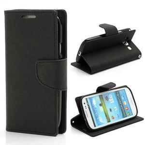 Mr. Fancy koženkové pouzdro na Samsung Galaxy S3 - černé - 1