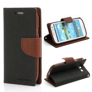 Mr. Fancy koženkové pouzdro na Samsung Galaxy S3 - černé/hnědé - 1