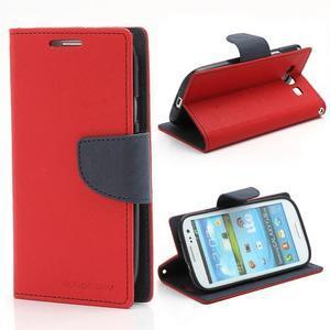 Mr. Fancy koženkové pouzdro na Samsung Galaxy S3 - červené - 1