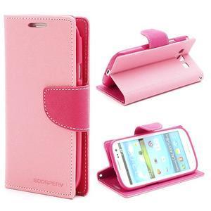 Mr. Fancy koženkové pouzdro na Samsung Galaxy S3 - růžové - 1