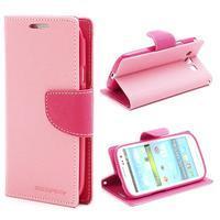 Mr. Fancy koženkové pouzdro na Samsung Galaxy S3 - růžové - 1/7