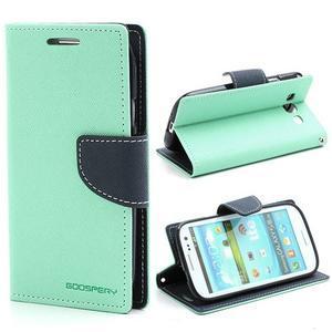 Mr. Fancy koženkové pouzdro na Samsung Galaxy S3 - azurové - 1