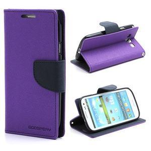 Mr. Fancy koženkové pouzdro na Samsung Galaxy S3 - fialové - 1