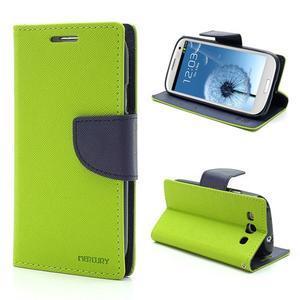 Mr. Fancy koženkové pouzdro na Samsung Galaxy S3 - zelené - 1