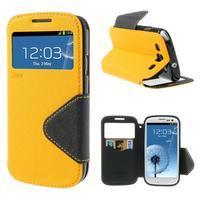 Peněženkové pouzdro s okýnkem pro Samsung Galaxy S3 / S III - žluté - 1/7