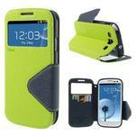Peněženkové pouzdro s okýnkem pro Samsung Galaxy S3 / S III - zelené - 1/6