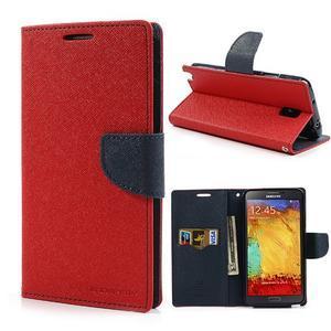 Goosp PU kožené pouzdro na Samsung Galaxy Note 3 - červené - 1