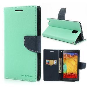Goosp PU kožené pouzdro na Samsung Galaxy Note 3 - azurové - 1