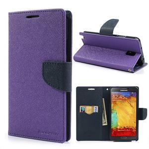 Goosp PU kožené pouzdro na Samsung Galaxy Note 3 - fialové - 1