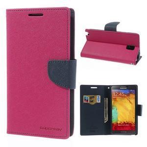 Goosp PU kožené pouzdro na Samsung Galaxy Note 3 - rose - 1