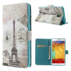 Peněženkové pouzdro na mobil Samsung Galaxy Note 3 - Eiffelova věž - 1