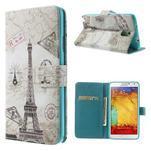 Peněženkové pouzdro na mobil Samsung Galaxy Note 3 - Eiffelova věž - 1/7