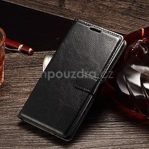 Koženkové pouzdro Sony Xperia M4 Aqua - černé - 1