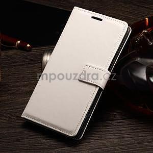 Koženkové pouzdro Sony Xperia M4 Aqua - bílé - 1