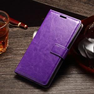 Koženkové pouzdro Sony Xperia M4 Aqua - fialové - 1