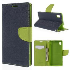 Ochranné pouzdro na Sony Xperia M4 Aqua - tmavěmodré/zelené - 1