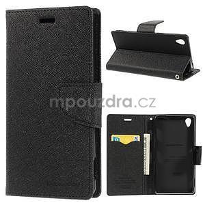 Peněženkové pouzdro na mobil Sony Xperia Z3 - černé - 1