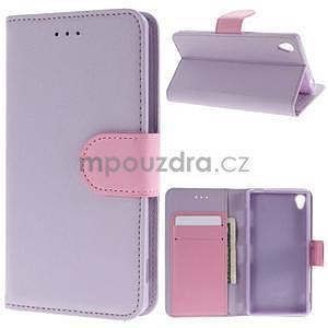 Koženkové pouzdro na Sony Xperia Z3 - fialové - 1
