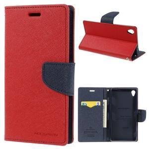 Peněženkové pouzdro na mobil Sony Xperia Z3 - červené - 1