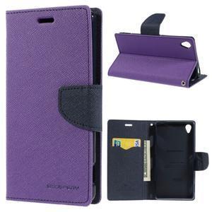 Peněženkové pouzdro na mobil Sony Xperia Z3 - fialové - 1
