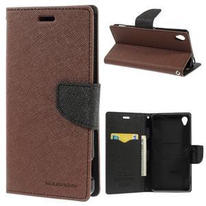 Peněženkové pouzdro na mobil Sony Xperia Z3 - hnědé - 1