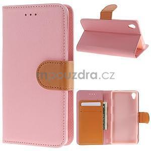 Koženkové pouzdro na Sony Xperia Z3 - růžové - 1