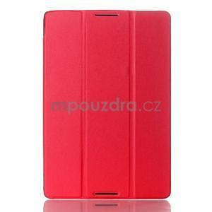 Troj-polohové pouzdro na table Lenovo IdeaTabl A10-70 - červené - 1