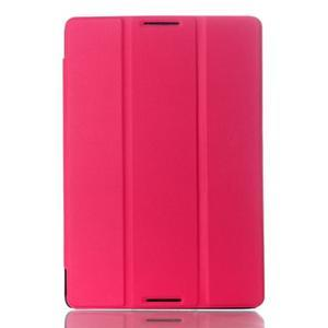 Troj-polohové pouzdro na table Lenovo IdeaTabl A10-70 - rose - 1